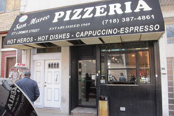 Image of the storefront of San Marco Pizzeria