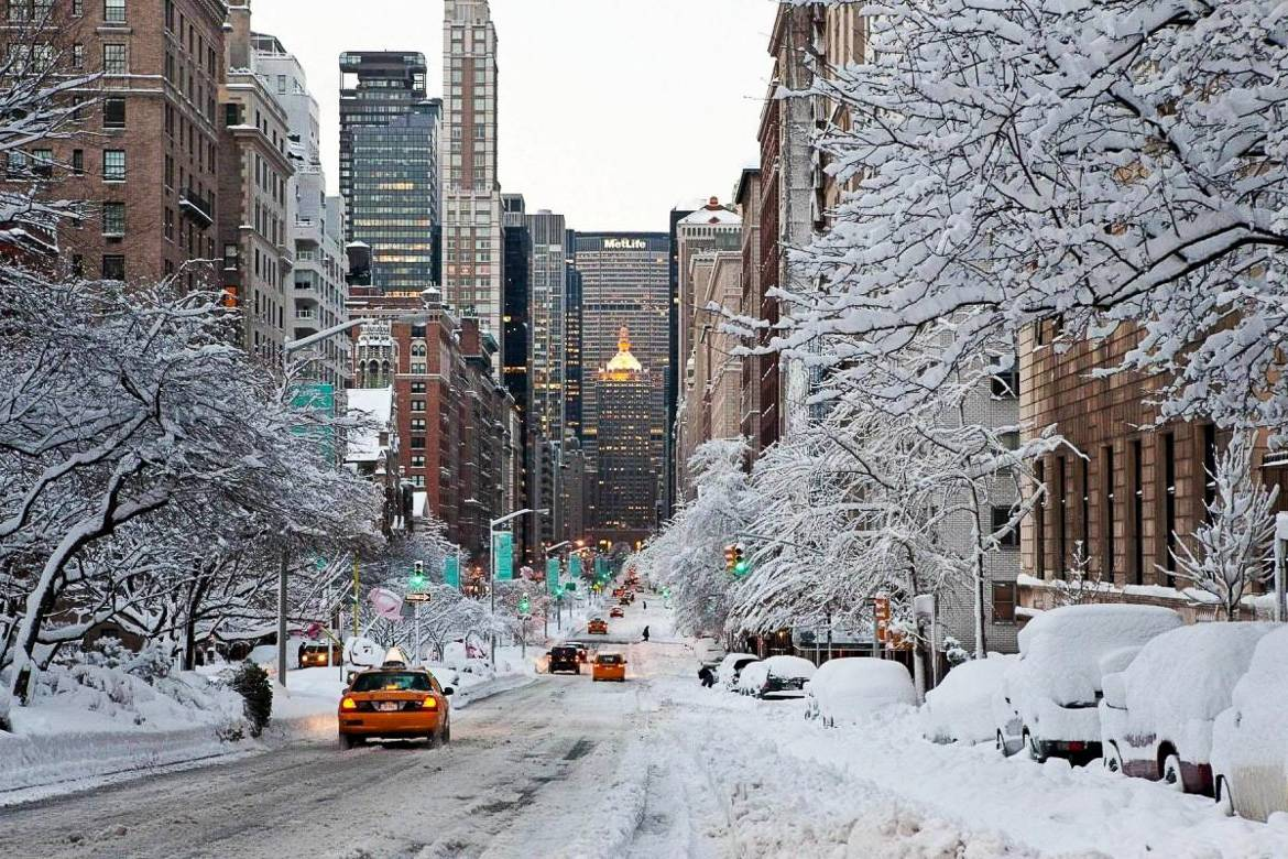Image of New York City Street covered in snow