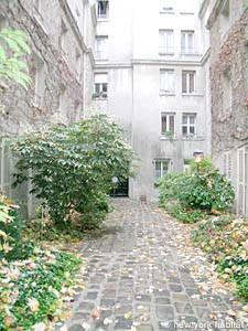 Garten in der Bastille in Paris