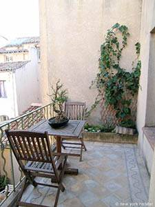 Eine Terrasse in Aix en Provence