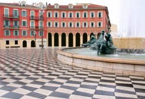 Plaza Massena Square in Nizza, Frankreich