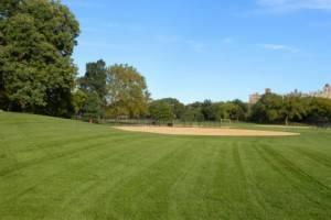 Eine Baseball Anlage im Central Park