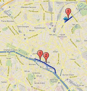 Paris Plages karte