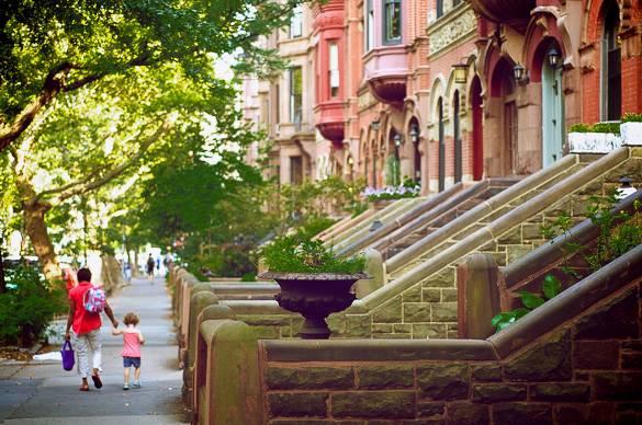 Bild von Standsteinhäusern in Park Slope, Brooklyn