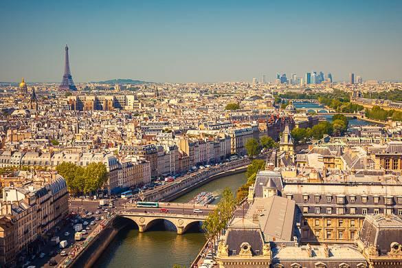 Bild des 7. Arrondissement und des Eiffelturms in Paris