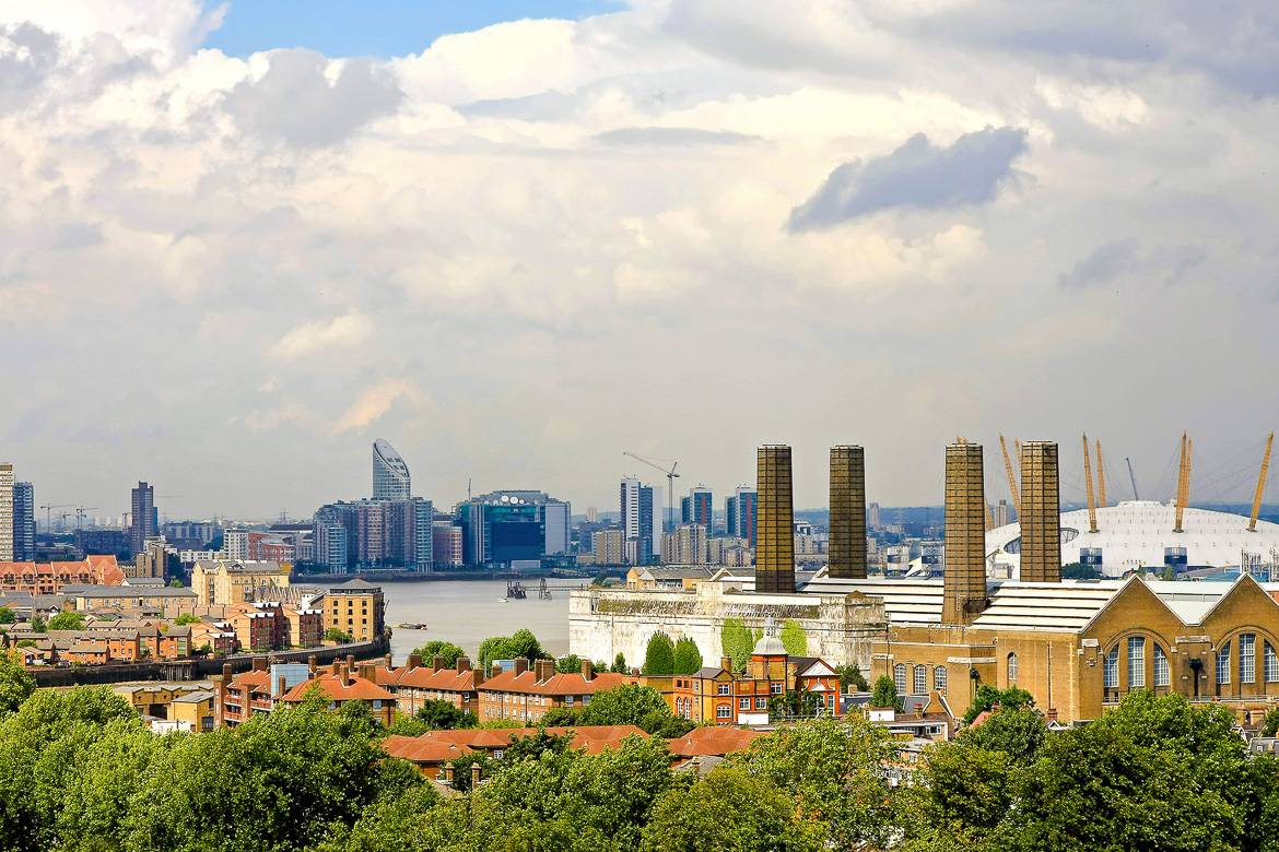 Bild der Hackney Skyline in London