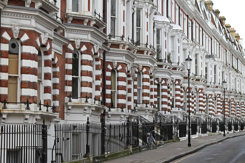 Bild von South Kensington-Reihenhäusern