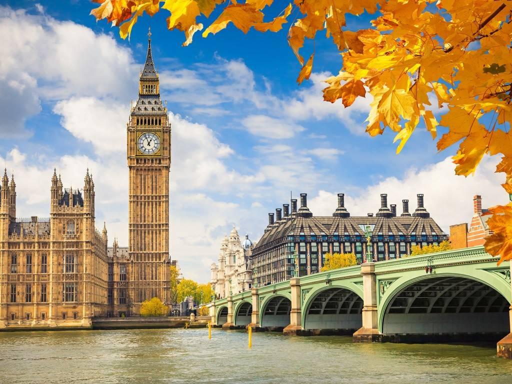 Bild vom Big Ben im Herbst