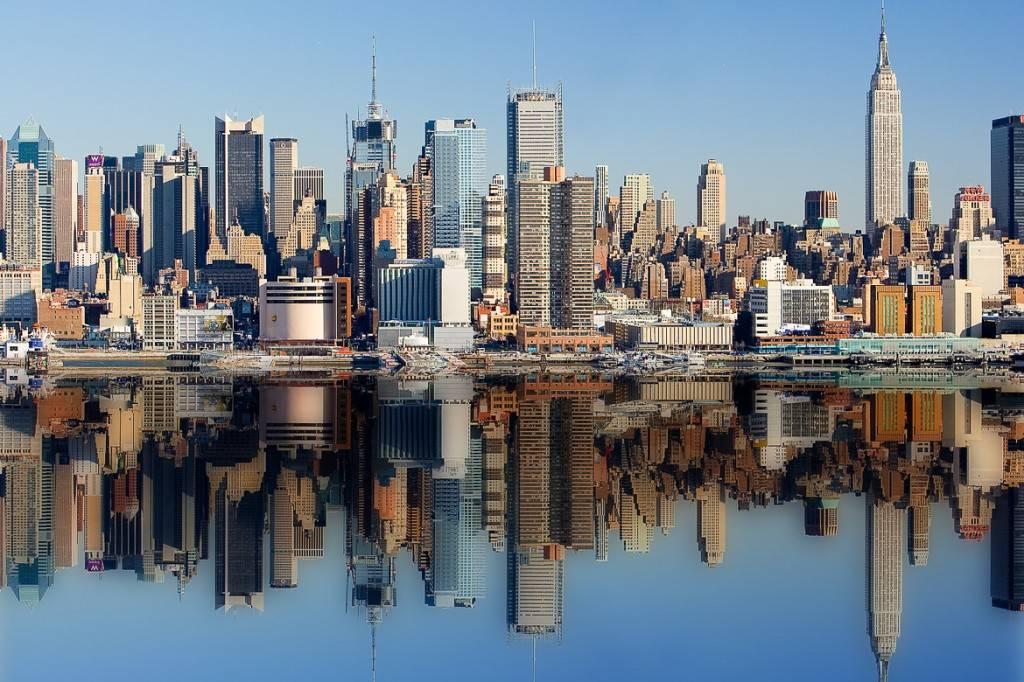 Aufnahme der Skyline von New York