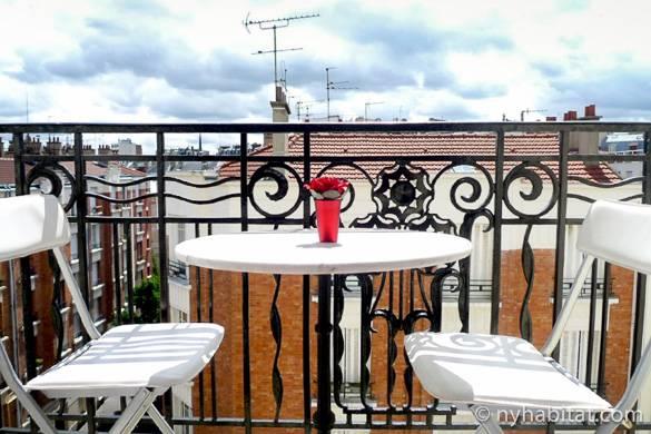 Bild des Balkons der Zwei-Zimmer-Wohnung in Ménilmontant, PA-4460
