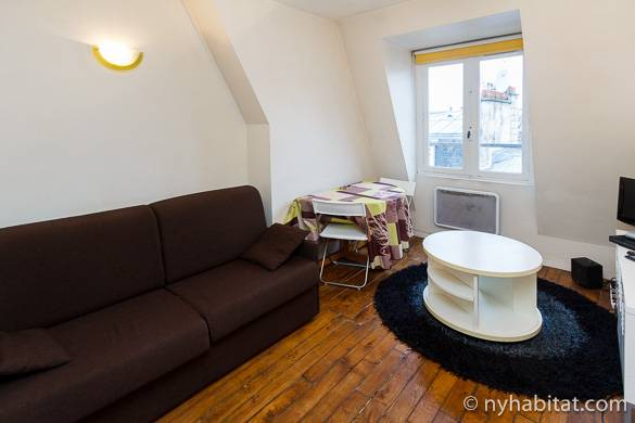 Bild einer Studiowohnung mit Alkoven in Montmartre, PA-1373