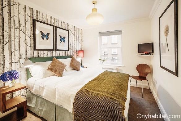 Bild des Schlafzimmers der Wohnung LN-1221 in Marylebone