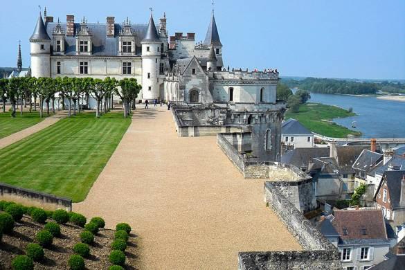 Bild eines Weingutes im Loire-Tal