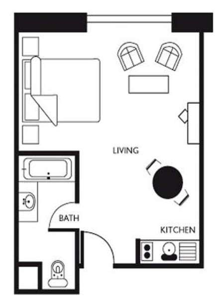 Studio apartment layouts joy studio design gallery for Studio apartment blueprints
