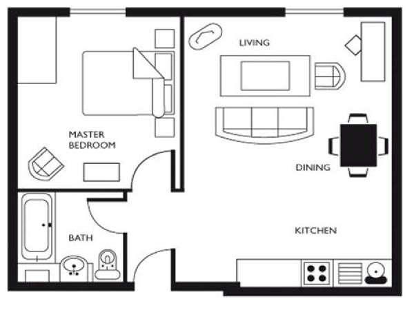 Logement londres location meubl e t2 south kensington ln 632 - Lay outs huis idee ...