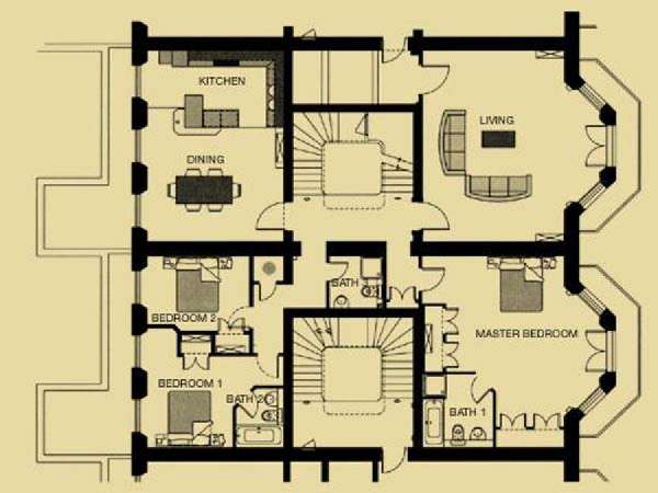 London Apartment: 3 Bedroom Duplex Apartment Rental in Kensington ...