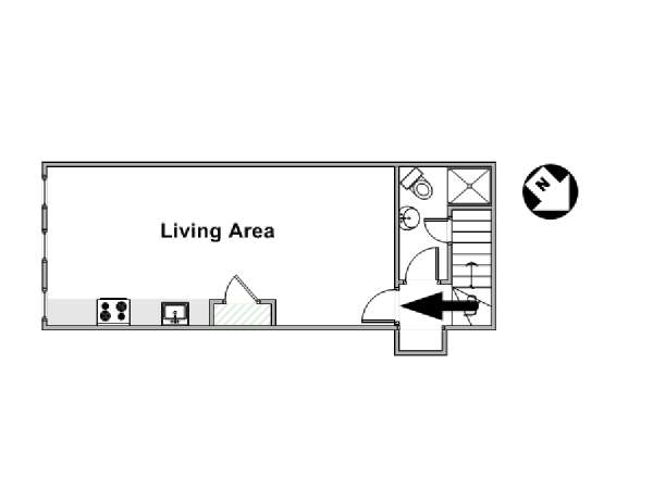 London Studio apartment - apartment layout  (LN-681)
