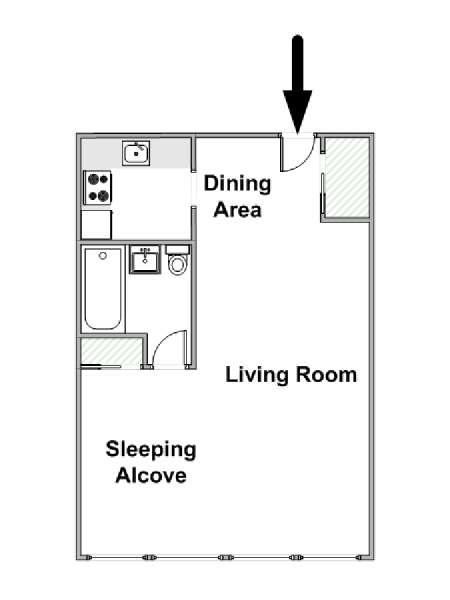 Studio Apartment Floor Plans New York new york apartment: alcove studio apartment rental in greenwich