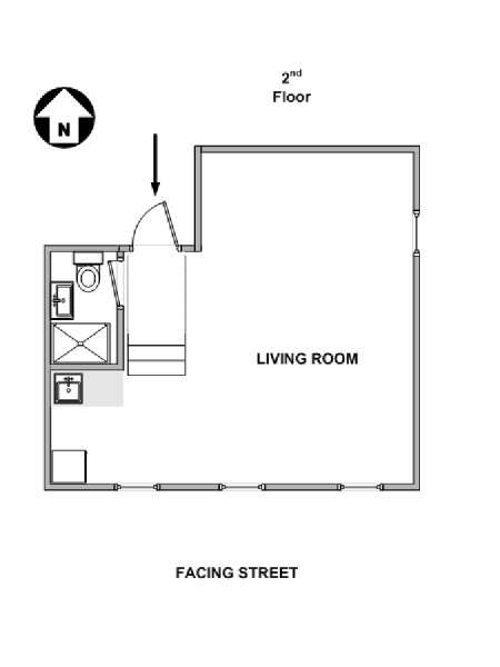New York Studio accommodation - apartment layout  (NY-11966)