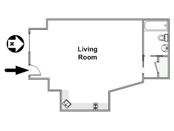 New York Studio apartment - apartment layout  (NY-12309)