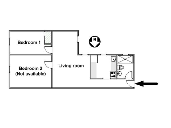 New York 2 Bedroom roommate share apartment - apartment layout  (NY-12825)