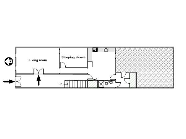 New York Alcove Studio apartment - apartment layout  (NY-12895)