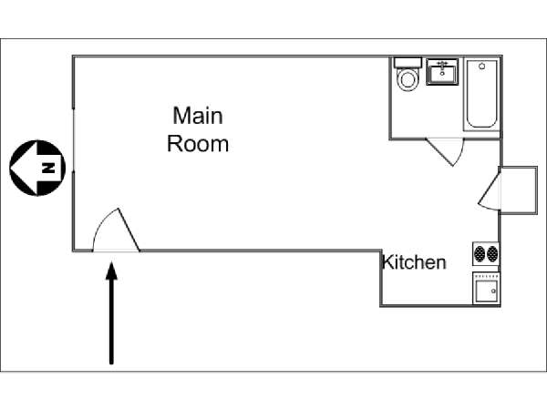 New York Studio accommodation - apartment layout  (NY-14102)