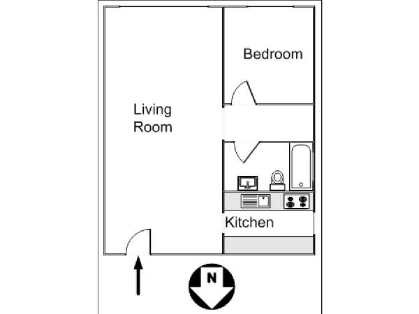 New York T2 logement location appartement - plan schématique  (NY-14130)