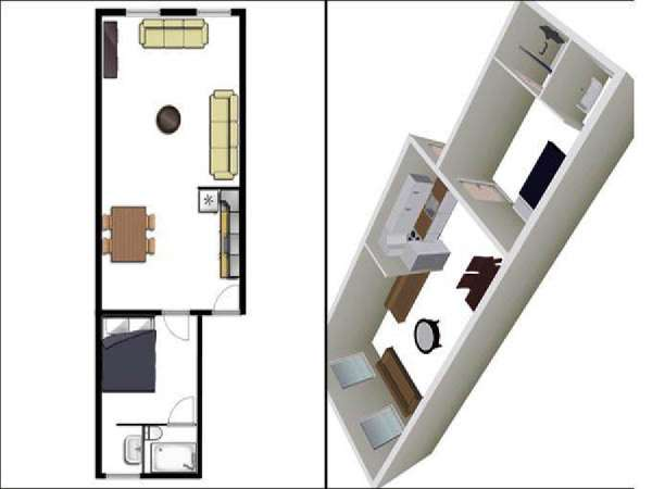 New York T2 logement location appartement - plan schématique  (NY-14150)