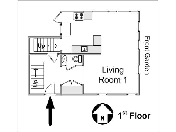 New York 4 Bedroom - Triplex accommodation - apartment layout 3 (NY-14448)