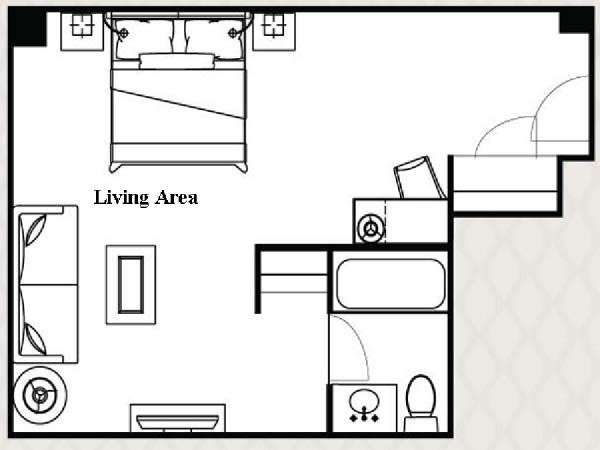 New York Studio apartment - apartment layout  (NY-14491)