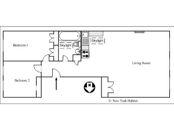New York 2 Bedroom apartment - apartment layout  (NY-14549)