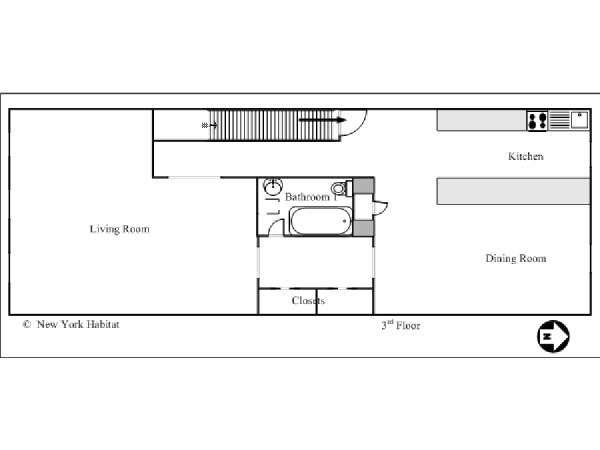 New York T4 - Duplex logement location appartement - plan schématique 1 (NY-14590)