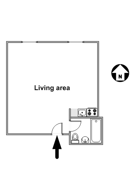 New York Studio accommodation - apartment layout  (NY-14638)