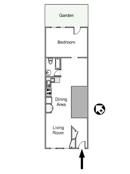 New York 1 Bedroom apartment - apartment layout  (NY-14720)