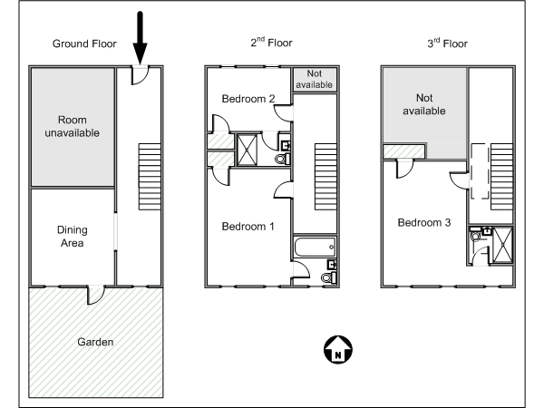 New york city bed and breakfast accommodations new york - Bed and breakfast design floor plans ...