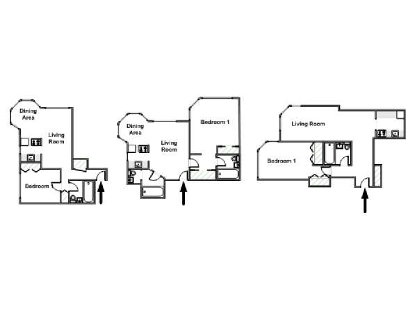 New York 1 Bedroom apartment - apartment layout  (NY-15097)