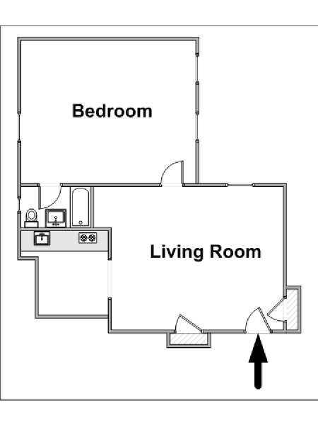 New York T2 appartement location vacances - plan schématique  (NY-15271)