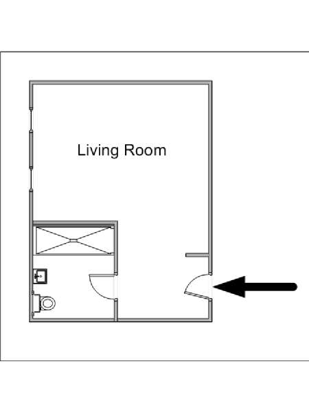 New York Studio apartment - apartment layout  (NY-15319)