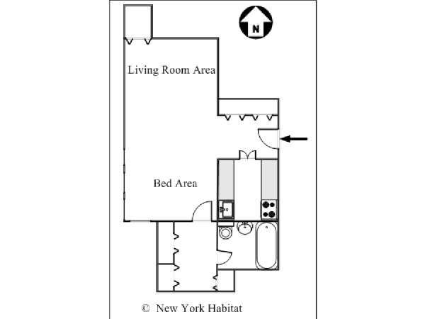 Studio Apartment Floor Plans New York new york apartment: studio apartment rental in midtown east (ny-15400)