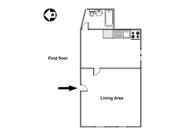 New York Studio apartment - apartment layout  (NY-15424)