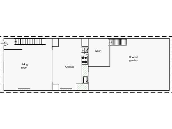 New York 2 Bedroom - Duplex accommodation - apartment layout 1 (NY-15439)