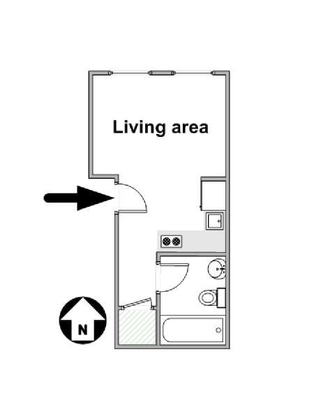 New York Studio apartment - apartment layout  (NY-15831)