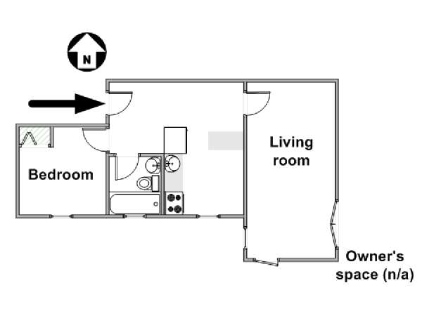 New York 3 Bedroom roommate share apartment - apartment layout  (NY-1627)