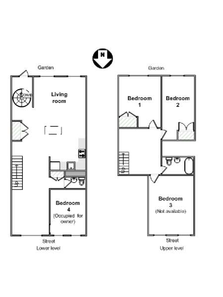 Image Slider New York 4 Bedroom   Duplex Roommate Share Apartment    Apartment Layout (NY 16284
