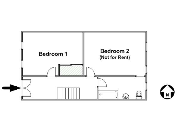 New York T3 appartement bed breakfast - plan schématique  (NY-16871)