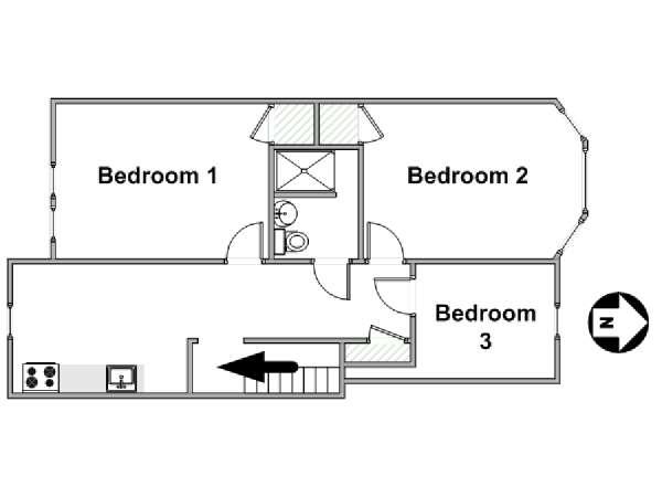 Stanza in affitto a new york 3 camere da letto bay for 3 camere da letto finito seminterrato in affitto