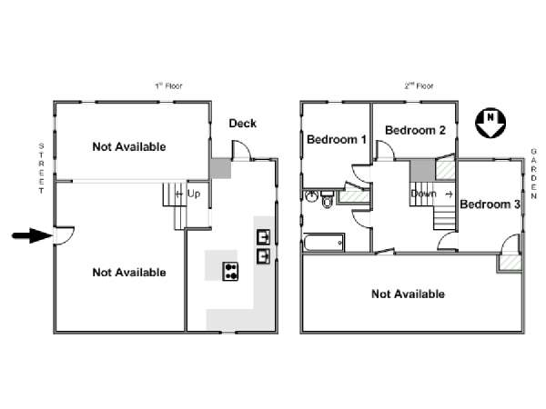 New York 4 Bedroom - Duplex roommate share apartment - apartment layout  (NY-17210)