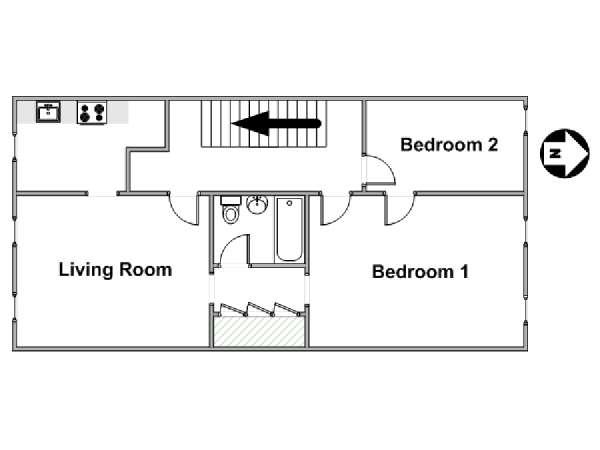 Stuy Town 2 Bedroom Floor Plan: New York Apartment: 2 Bedroom Apartment Rental In Bedford