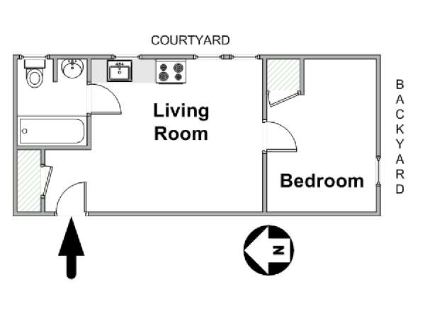 Ordinaire New York 1 Bedroom Apartment   Apartment Layout (NY 6253)